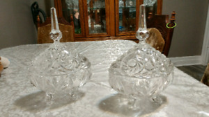 Crystal candy dishes