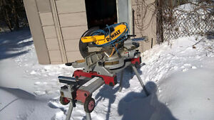 DEWALT 12 INCH SLIDING MITRE SAW -  STAND AVAILABLE AS WELL