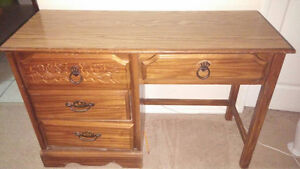 Solid wood desk with matching chair Sarnia Sarnia Area image 1