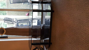 Glass t v stand for sale 30  or best offer