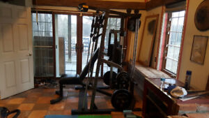 Nautilus Smith Machine, Lat Pull, Seated Row, Pec Deck & Weights