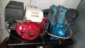 11 HP honda powered air compressor