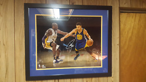 Steph Curry Hand Signed 16x20 Photo Framed