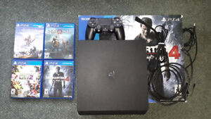PS4 500gb for sale, 4 games
