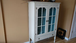 Antique chalk painted cabinet