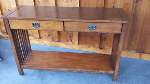 Solid wood side or sofa table