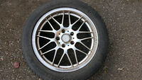 "SET OF FOUR 17"" BBS REP RIMS + DUNLOP SNOW TIRES 225 / 50 / R17"