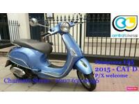 Piaggio Vespa Primavera 125 Blue 2015 125cc Learner Legal Scooter