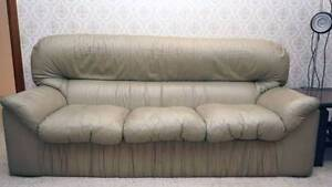 3 Seat Genuine Leather Sofa Lounge Couch Gymea Bay Sutherland Area Preview