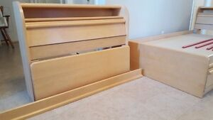 Two captain beds and furniture