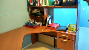 Free L shaped Desk and chair in good condition