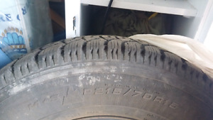 2 Barely Used Snow Tires Good Year P215 70/R15 on Rims