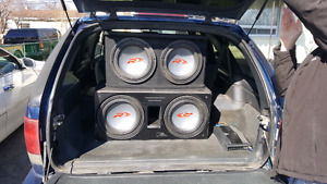 Two 12 inch r types and 1000 rms alpine amp trade for??