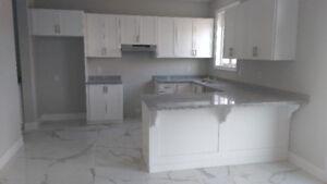 Kitchen Shaker Style in White(Brand New) w/ Granite Counter Tops