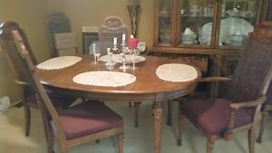 Dining Table, & hutch