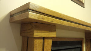 Solid Oak Fireplace Mantle - NEW Kitchener / Waterloo Kitchener Area image 5