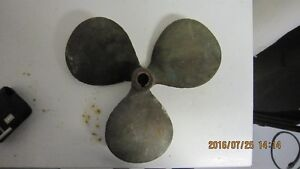 2 bronze ship propellers