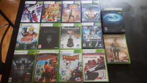 14 xbox360 games and kinect games for sale