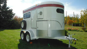REDUCED!! 2 HORSE TRAILER, RECONDITIONED,  IN GREAT SHAPE!