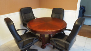 """♧◇♡♤ 48"""" SOLID MOHAGANY POKER /BUMPER POOL/DINING TABLE & CHAIRS"""