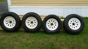 Tires and rims for Travel Trailer