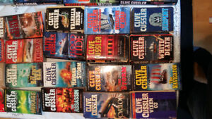 48 books Clive cussler collection hard cover / soft cover