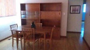 Dining Room Table with 4 Chairs $125 OBO