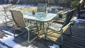 Patio Glass Table And Chair Set