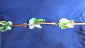 Beach glass/stained glass glow in the dark guitar suncatcher