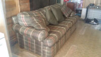 Couch & Chair and a half for sale