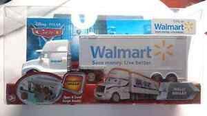 DISNEY CARS WALLY SEMI HAULER WALMART EXCLUSIVE MINT!! 1:55