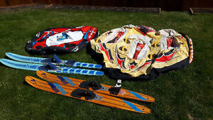 boating tubes and water skis for sale