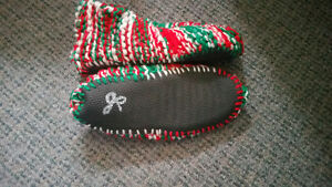 HAND KNITTED SLIPPERS