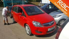 2012 Vauxhall Zafira MPV 1.6 16V 115 Exclusiv Petrol red Manual
