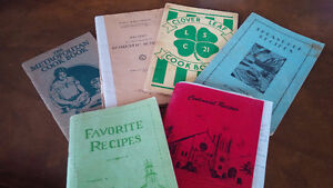 Six Vintage Cookbooks