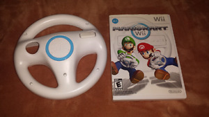 For sale,Mario Kart with wii wheel.