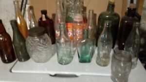Old collectable jars and bottles