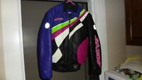 ARCTIC CAT WOMANS LEATHER SUIT with HELMET -SEE PHOTOS