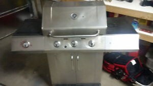 Natural Gas Stainless BBQ with side burner