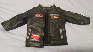 Disney lightning mcqueen cars leather jacket. 18-24mos