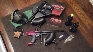 PAINTBALL ENTIRE PACKAGE - 2 GUNS PROTO RAIL PMR & WGP GUN