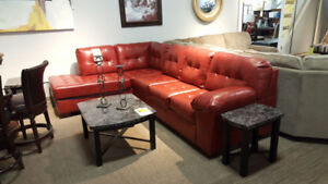 Sectional leather sofa brand new