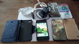 iPhone 4 Unlocked - 8 GB - Cases and Chargers