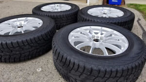 Winter Tire and Rim Package - Ray's VOLK Racing G12 Silver