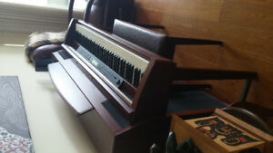 Yamaha Clavinova electric upright piano.