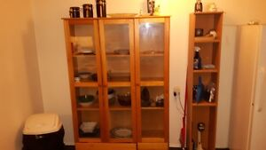 wood display cabinet for sale