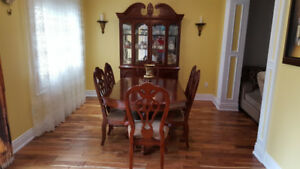Classic Dining set,dining table with 6 chairs,and sideboard