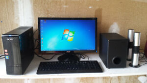 ACER   Desktop  w/AMD Quad-Core A6 processor,
