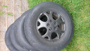 Snow Tires 16 Inch with Aluminum Rims (fits GM Bolt Pattern)