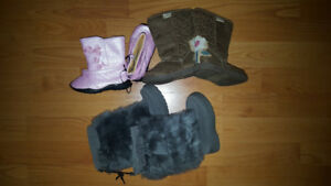 Size 4 and 6 Baby Girl Toddler Boots Lot - 3 Pairs for Only $20